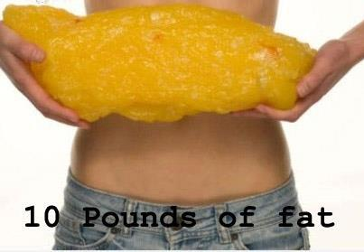 Only lost ten pounds? This is what ten pounds of fat looks like [image] ...